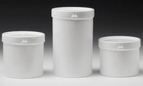 Push on lid containers