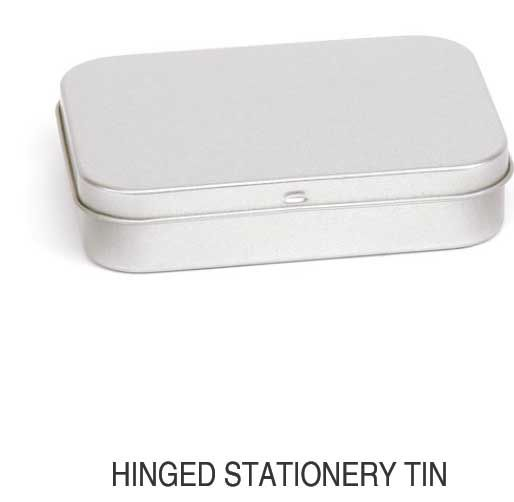 Hinged Stationery Tin