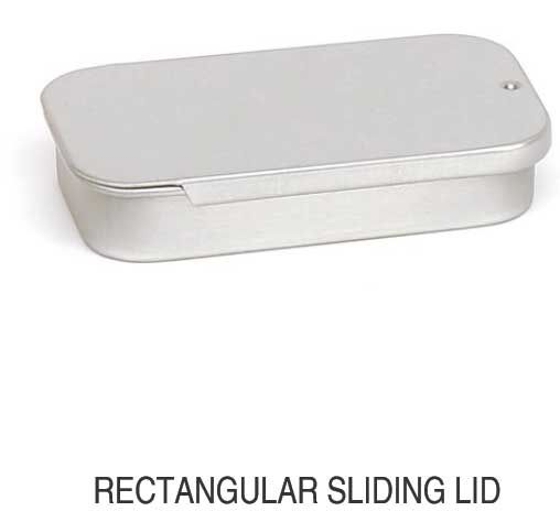 Rectangular Sliding Lid
