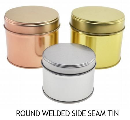 Round Welded Side Seam Tin